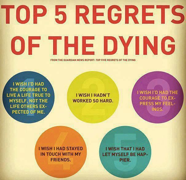 what the dying regret most
